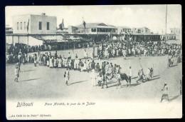Cpa De Djibouti  Place Ménélik , Le Jour Du 14 Juillet   LIOB101 - Djibouti