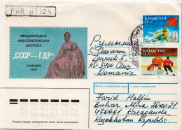 Postal History Cover: Kazakhstan Stamps On Cover