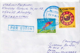 Postal History Cover: Kazakhstan Stamps On Cover - Winter 1994: Lillehammer