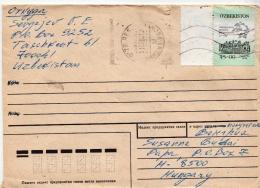 Postal History Cover: Uzbekistan Stamp On Cover - Uzbekistan