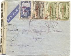 CTN42 - REUNION LETTRE ST.DENIS / MAJUNGA  21/12/1943 - Réunion (1852-1975)