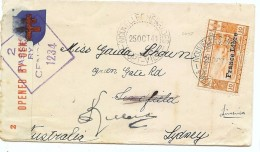 CTN42 - NOUVELLES HEBRIDES  LETTRE FL FORT VILA / SYDNEY 25/10/1941 - Brieven En Documenten
