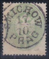 4065m: Österreich 1863, ANK 31 B Hellgrün, Smichow (ANK 19.- €) - 1850-1918 Imperium