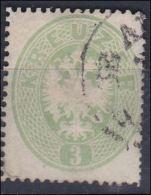 4065n: Österreich 1863, ANK 31 B Hellgrün (ANK 19.- €) - Used Stamps