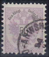 4065p: Österreich 1883, ANK 49a Rotlila (ANK 110.- €) - Gebraucht