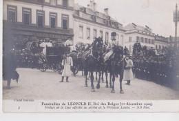 BRUXELLES FUNERAILLES DU ROI LEOPOLD II 22/12/1909 CLICHE NEURDELIN - Beerdigungen