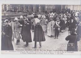 BRUXELLES FUNERAILLES DU ROI LEOPOLD II 22/12/1909 CLICHE RAPID - Beerdigungen