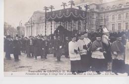 BRUXELLES FUNERAILLES DU ROI LEOPOLD II 22/12/1909 CLICHE FILLATRE - Funérailles