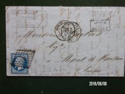 Bordeaux 1858 N°14 Sur Lettre - Marcophilie (Lettres)