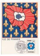 CARTE MAXIMUM - ILE DE FRANCE - TAMPON PREMIER JOUR A PARIS - 1978 - - 1970-79