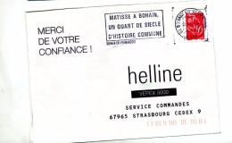 Lettre Flamme Bouhain Matisse - Oblitérations Mécaniques (flammes)