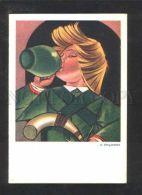 071523 RURAL Type In Green By STRYJENSKA Old Poland PC - Illustratori & Fotografie