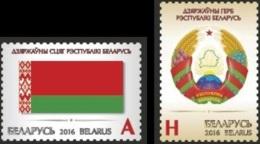 BY 2016-1120-1 NATIONAL SIMBOL, BELORUSSIA, 1 X 2v, MNH - Briefmarken