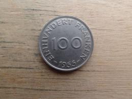 Saarland  100  Franken 1955  Km 4 - [ 8] Saarland