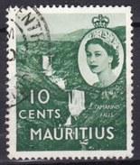 Mauritius, 1953/54 - 10c, Tamarind Falls - Nr.255 Usato° - Mauritius (1968-...)