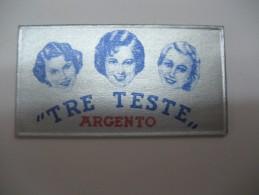 LAMETTA DA BARBA - TRE TESTE ARGENTO - - Lamette Da Barba