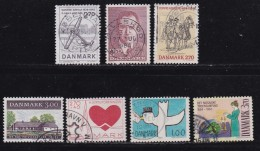 DENMARK, 1984, Used Stamp(s), Commomeratives, MI 808=818, #10166, 7 Values - Used Stamps
