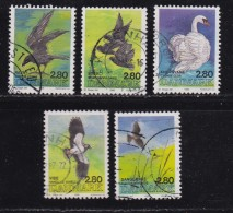 DENMARK, 1986, Used Stamp(s), Birds, MI 872-876, #10176, Complete - Denmark
