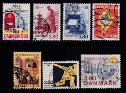 DENMARK, 1986, Used Stamp(s), Commomeratives, MI 877=887, #10177, 7 Values - Denmark