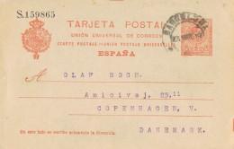 19213. Entero Postal BARCELONA  1914. VARIEDAD Impresion Alfonso XIII Medallon
