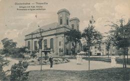 DIEDENHOFEN -THIONVILLE - Promenade Et église Catholique - Thionville