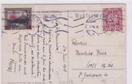Heil Sonnenwende ! Vignette Auf Ansichtskarte 1918 Paar, Jugendstil - Feste