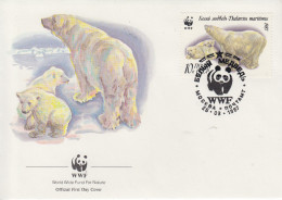 Enveloppe  FDC   1er   Jour    U.R.S.S     OURS  POLAIRE      WWF    1987 - FDC