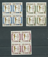Soudan - Yvert 122/124 ** Bloc De 4 , Anniversaire De La Révolution - Abc153 - Soudan (1954-...)