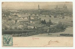 FIRENZE  PANORAMA  VIAGGIATA  FP - Firenze