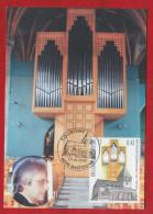 CARTE MAXIMUM DE BELGIQUE - ORGUES DE L´EGLISE SAINT-PIERRE DE BASTOGNE - Musica