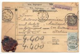 Post-Begleitadresse 1893 Von Wien Nach Mailand ( Milano ) - 1850-1918 Imperium
