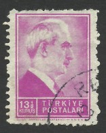 Turkey, 13 1/2 K. 1942, Sc # 886, Mi # 1146, Used - 1921-... Republic