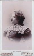 Superbe Photo CDV  Photographe Colbert 58 Rue Royale Tournai  Portrait De Femme - Anciennes (Av. 1900)