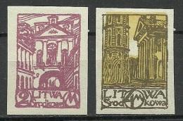 Mittellitauen Central Lithuania 1921 Michel 31 - 32 B *