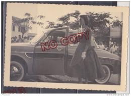 Au Plus RapiDouala Cameroun Concours D´élégance Dauphine Renault Jante à Rayons ? Excellent état Beau Format 9 Par 13 Cm - Cars