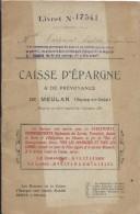 Livret De Caisse D´Epargne & De Prévoyance/ MEULAN/Seine & Oise/Andrée Coppeint/1914   BA38 - Banque & Assurance