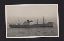 EARLY VINTAGE REAL PHOTO SHIP OCEAN LINER SWEDEN SEVERIGE BATEAUX BATEAU CARGO SHIP - Bateaux