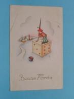 Dobbelsteen / Teerling ( Bonne Année ) Anno 1948 ( Zie Foto Details ) !! - Cartes Postales