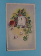 Dobbelstenen / Teerlingen ( Bonne Année / 12.00 Hr. ) Anno 19?? ( Zie Foto Details ) !! - Cartes Postales