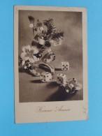 Dobbelstenen / Teerlingen ( Bonne Année / Kerstmis ) Anno 19?? ( Zie Foto Details ) !! - Cartes Postales