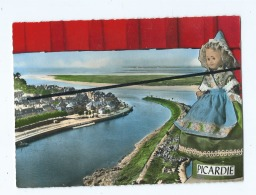 CPM -  En Avion Au Dessus De....St Valery -  Poupée  Picardie  - Le Quartier Du Port  (  Saint Valery Sur Somme  ) - Saint Valery Sur Somme