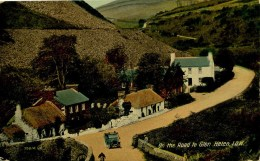 ISLE OF MAN - ON THE ROAD TO GLEN HELEN 1920 Iom86 - Isle Of Man