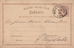 DR Ganzsache K1 Halle A./S. Bahnhof 5.4.74 - Briefe U. Dokumente
