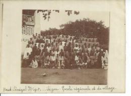 PHOTO : HAUT-SENEGAL NIGER - SEGOU : ECOLE REGIONALE ET LE VILLAGE  ( Animées ) - Niger
