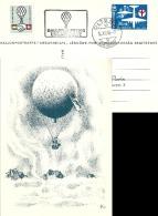 "Ballon Postkarte  ""Ungarnhilfe""  Olten - Chur           1956 - Posta Aerea"