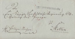 Brief L1 Greifenberg Pom. Gelaufen Nach Stettin - Deutschland