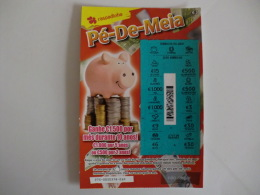 Loterie/ Lottery/ Loteria/ Lotaria Instant Instantânia Raspadinha Jogo Nº 275 Pé De Meia Portugal - Billets De Loterie