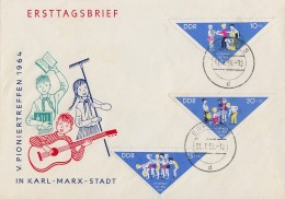 DDR Brief Mif Minr.1045-1047 Erfurt 31.7.64 - DDR
