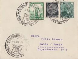 DR Brief Mif Minr.512,590,604 SST Sonneberg 4.5.36 - Briefe U. Dokumente