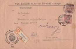 DR Dienst-R-Brief Mif Minr.D62, D63 Stuttgart 29.7.20 - Dienstpost